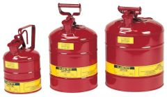 Justrite™ Type I Steel Safety Cans