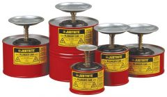 Justrite™ Plunger Safety Cans