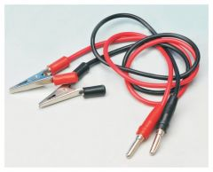 Eisco™ 1000mm Connecting Leads With Plug And Alligator Clip, Red