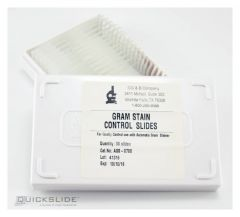 Hardy Diagnostics™ QuickSlide™ GramPRO 1 Automated Gram Stain Instrument Control Slides