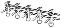 DWK Life Sciences Kimble™ Kontes™ Vacuum/Gas Double Manifold with Glass Plugs