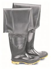 Dunlop™ Onguard™ Men's Plain Toe Storm King/Hip Wader Boots with Cleated Outsole