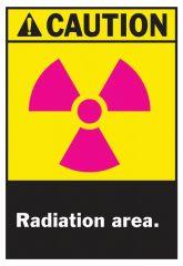 Brady™ Caution Radiation Area Signs