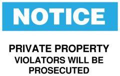 Brady™ Notice Private Property Sign