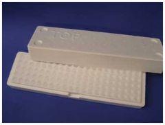 Heathrow Scientific™ Microtube Storage Box EPS 100-Place, White