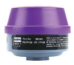 Honeywell™ North™ Low-Profile Cartridges and Cartridge/P100 Filter Combinations