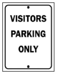 Brady™ Industrial Traffic Signs: Visitors Parking Only