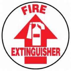 Accuform Signs Slip-Gard Round Floor Signs: Fire Extinguisher