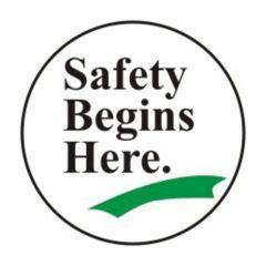Accuform Signs Slip-Gard Round Floor Signs: Safety Begins Here