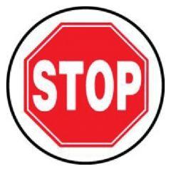 Accuform Signs Slip-Gard Round Floor Signs: Stop