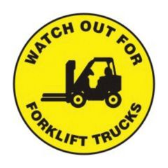 Accuform Signs Slip-Gard Round Floor Signs: Watch Out For Forklift Trucks