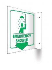 Accuform Signs Safety Projection Sign: Emergency Shower