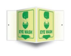Accuform Signs Safety Projection Sign: Eyewash