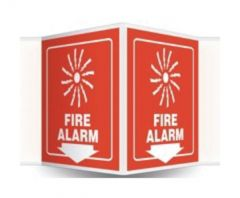 Accuform Signs Safety Projection Sign: Fire Alarm