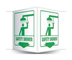 Accuform Signs Projection Sign: Safety Shower