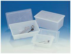 Bel-Art™ SP Scienceware™ Polypropylene Sterilizing Trays with Cover, Inside dimension: 6-5/8 x 3-3/4 x 2-1/4 in. (18.6 x 10.9 x 5.8cm)