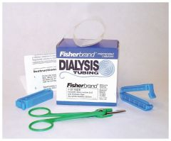 Fisherbrand™ Regenerated Cellulose Dialysis Tubing, Flat width: 19mm; Dia. x Length: 12.1mm x 15m