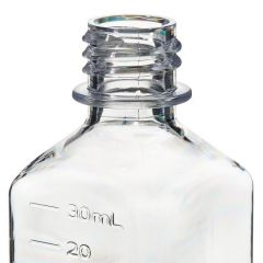 Thermo Scientific™ Nalgene™ Square PETG Media Bottles with Closure: Nonsterile, Shrink-Wrapped Trays, 30mL