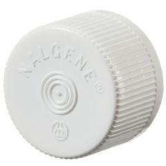 Thermo Scientific™ Nalgene™ Lined HDPE Serum Vial Closure for Continuous-Thread Vials: Nonsterile, white
