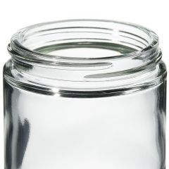 Thermo Scientific™ Wide-Mouth Short-Profile Clear Glass Jars with Closure, 125mL, processed