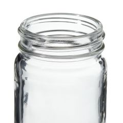 Thermo Scientific™ Wide-Mouth Tall-Profile Clear Glass Jars with Closure, 125mL, unprocessed