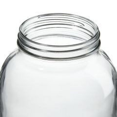 Thermo Scientific™ Wide-Mouth Tall-Profile Clear Glass Jars with Closure, 2000mL, processed