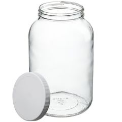 Thermo Scientific™ Wide-Mouth Tall-Profile Clear Glass Jars with Closure, 4000mL, processed