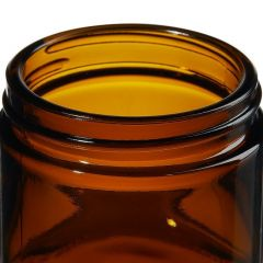 Thermo Scientific™ I-Chem™ Wide-Mouth Short-Profile Amber Glass Jars with Closure, 60mL, unprocessed