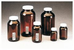 Thermo Scientific™ I-Chem™ Wide-Mouth Amber Glass Packer with Closure, 1250mL, certified