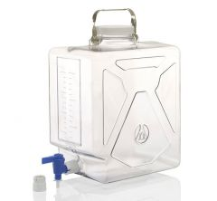 Thermo Scientific™ Nalgene™ Rectangular Polycarbonate Clearboy™ with Spigot, 20L