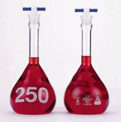 KIMAX™ Heavy-Duty Clear Glass Volumetric Class A Flasks with PTFE Stoppers