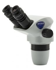 Binocular stereozoom microscope head