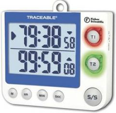 Fisher Scientific™ Traceable™ Flashing LED Big-Digit Dual Channel Timer