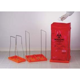 Stainless Steel Wire Frame Biohazard Bag Holder