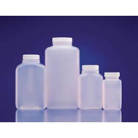 Fisherbrand HDPE Wide-Mouth Oblong Bottles with Foamed PE-Lined Caps