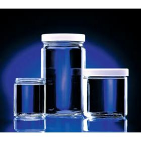 Fisherbrand Certified Clean Clear Glass Straight-Sided Jars