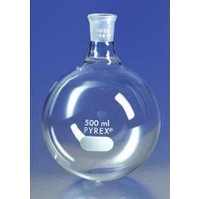 PYREX™ Flasks with standard taper Joints, Short Necks, Round Bottom