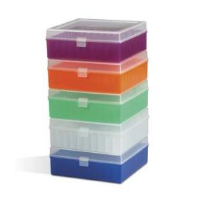 Fisherbrand Polypropylene Vials Storage Boxes Black Pack of 5