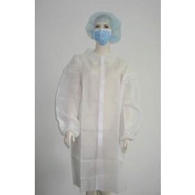 Fisherbrand Disposable Polypropylene Lab Coats with Velcro Closures