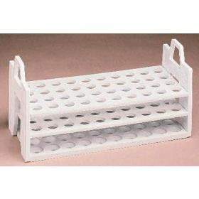 Fisherbrand™ Three-Tier Polypropylene Test Tube Racks, Holds 16-20mm tubes; 40 places; 4 x 10 rows