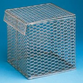 Fisherbrand Aluminum Baskets with Tilt-Top Lids