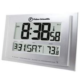 Fisher Scientific Traceable Big-Digit Radio Atomic Wall Clock - TRACE BLE RDIO WLL CLCK DIG (HAZARDOUS)