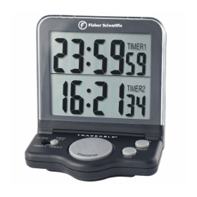 Fisher Scientific Traceable Two-Channel Benchtop Timer with Dual-Line LCD