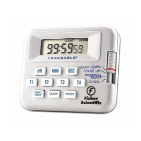 Fisher Scientific Traceable Four-Channel Countdown Alarm Timer/Stopwatches - 100-HOUR TIMER