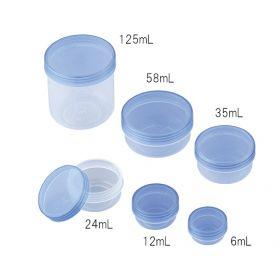 PP Case 3-54 Clear Blue, 35ml, 100pcs/bx
