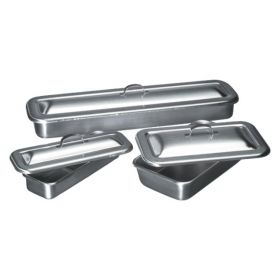Thermo Scientific™ Shandon™ Stainless-Steel Covered Instrument Trays, 8.9 x 5 x 2  in. (L x W x D) (22.3 x 12.7 x 5.1cm)