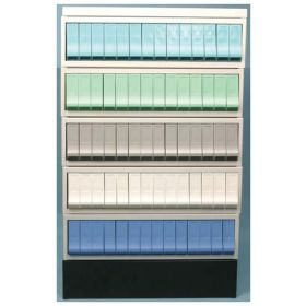 Thermo Scientific™ ColorStack Storage System, 14-drawer cabinet with white drawers
