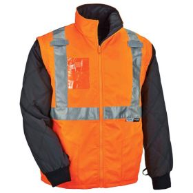 Ergodyne™ GloWear™ 8287 Thermal High Visibility Jacket with Type R Class 2 Removable Sleeves