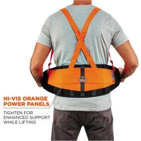 Ergodyne™ ProFlex™ 100HV Economy Spandex Hi-Vis Back Support Brace