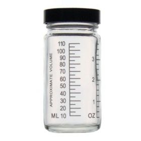 DWK Life Sciences Kimble™ Clear Glass Graduated AC Medium Rounds with Pulp/Vinyl-lined Caps